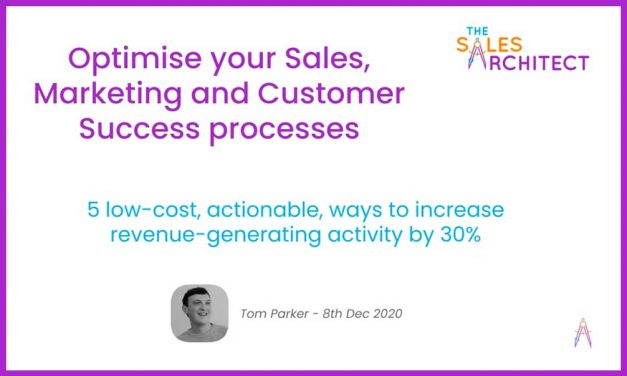 Sales Architect Webinar | 5 low-cost ways to optimise processes, regain time, and grow revenue by 30%